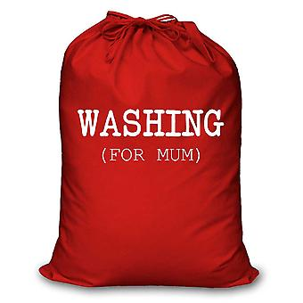 Red Laundry Bag Washing For Mum