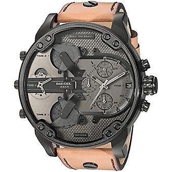 Diesel watch Chronograph quartz men's watch with leather DZ7406