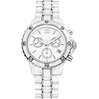 Tanskan design naisten Watch IV62Q961 chronographs, keraamiset kellot