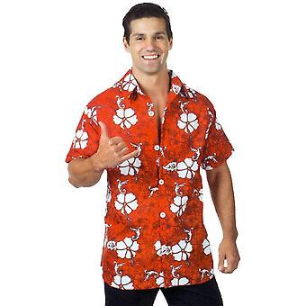 Hawaiian Shirt Red Ad One Size