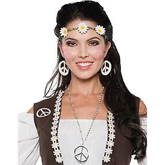 70er Jahre Kopfband Halsband Set