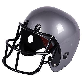 Amerikaans voetbal Rugby helm volwassen kostuum voetbal helm zilver
