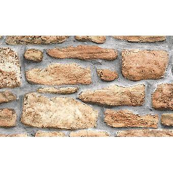 Brick Effect Slate Stone Sticky Back Plastic Fablon Vinyl Durable Self Adhesive Grey/Brown