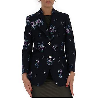 Gucci 501147zlm274548 Women's Blue Silk Blazer
