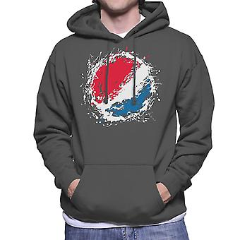 Pepsi Paint Splash Logo Men's Hooded Sweatshirt