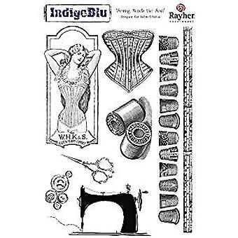 IndigoBlu Sewing Mends The Soul Mounted A5 Rubber Stamp (SMS I Mtd)