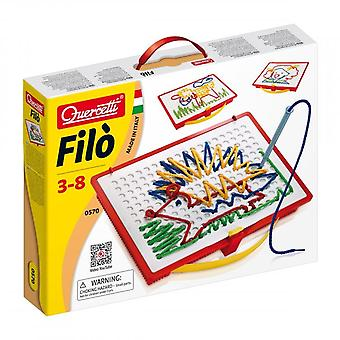 Quercetti Filo Drawing Laces Board Ages 3-8 Years