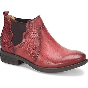 Comfortiva Womens Tenny Leather Round Toe Ankle Chelsea Boots