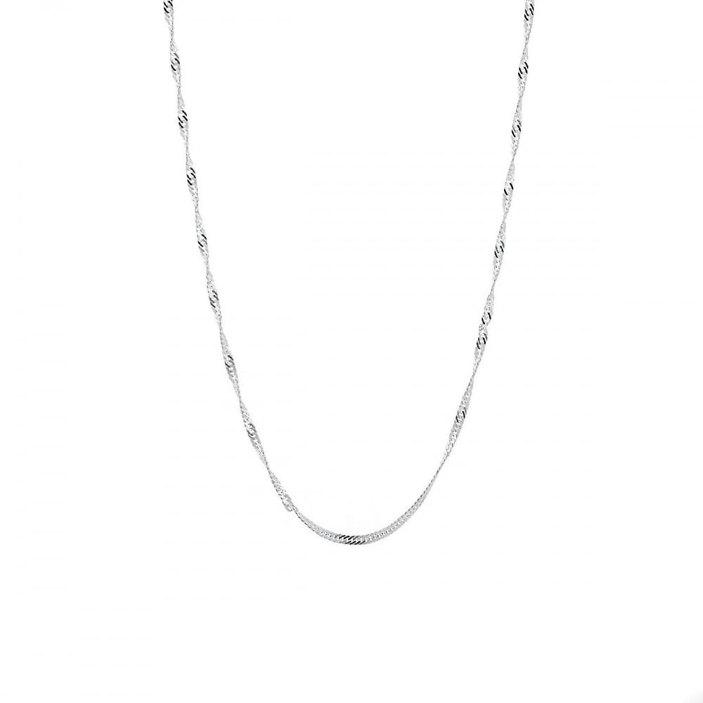 Eternity Sterling Silver 18'' Singapore Chain
