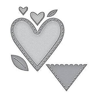 Spellbinders Die D-Lites Hearts