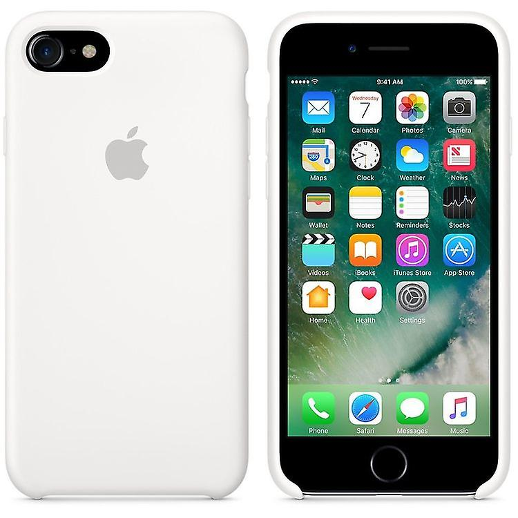 Original packaging Apple silicone Micro Fiber cover case for iPhone 8 / 7 - white
