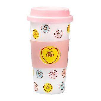 Swizzels Love Hearts Travel Mug