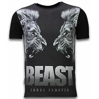 Beast-digitaalinen tekojalokivi T-paita-musta