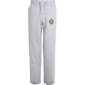 Royal Regiment Of Fusiliers Crest - Licensed British Army Embroidered Open Hem Sweatpants / Jogging Bottoms