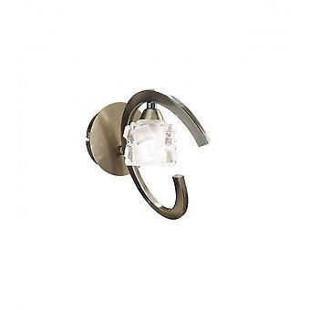 Mantra ijs muur lamp overgeschakeld 1 licht G9 ECO, antiek messing