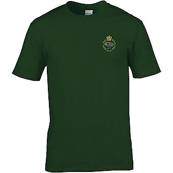 Royal tank Regiment-licensierade brittiska armén broderade Premium T-shirt
