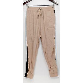Willow & Clay Pantaloni Jogger Stile w / Tasche Basic Beige