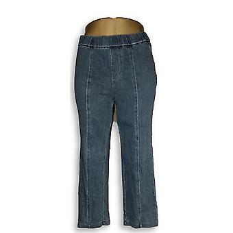 Isaac Mizrahi Live! Damen's Petite Jeans 6 stricken Denim Crop Blue A303203