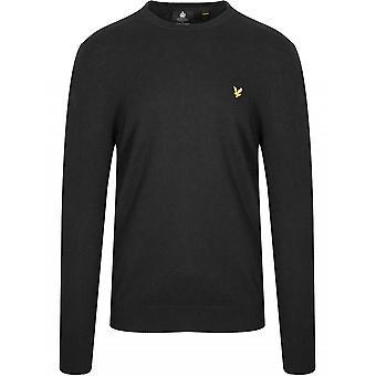 Lyle & Scott  Black Merino Sweatshirt