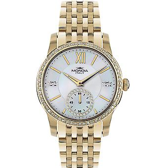 Mondia madison lady Japanese Quartz Analog Women Watch with Stainless Steel Bracelet in Gold Plated MI741P-2BM