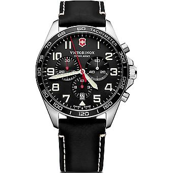 Victorinox field watch quartz analog man watch with cowhide bracelet V241852