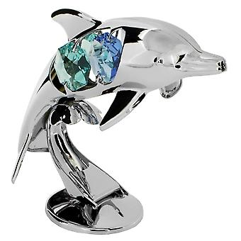 CRYSTOCRAFT Freestanding Dolphin made with Swarovski Crystals
