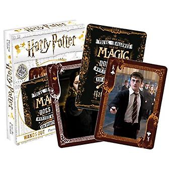 Playing Card - Harry Potter - Wands Out Poker New 52568