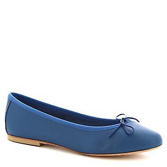 Leonardo skor kvinnor ' s handgjorda ballerinaskor skor Blå kobolt kalvläder