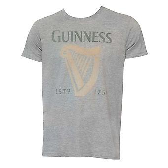 Guinness Harp Logo Grey Shirt