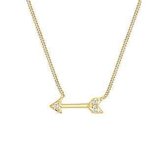 Elli - Women's necklace with arrow pendant - silver 925 - brightcut white zircons - 0103882514_40