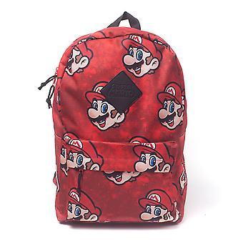 Nintendo Super Mario Bros. Sublimazione zaino casual Daypack 28cm 20L - Rosso
