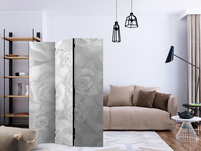 Paravent 3 volets - Plaster Flowers [Room Dividers]