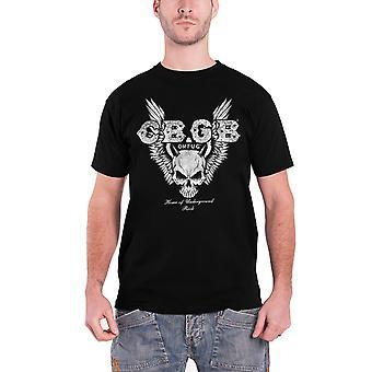 CBGB T Shirt Skull Wings logo new Official Mens Black