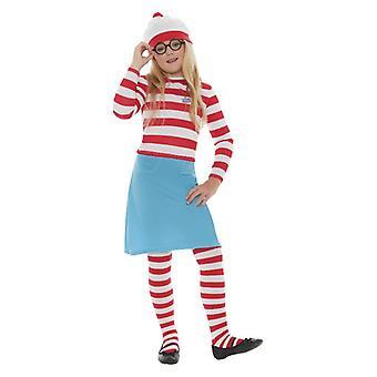 Meisjes waar is Wally? Wenda Fancy Dress kostuum