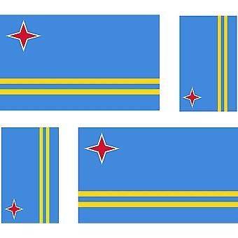 4 x tarra tarra auto moottori pyörä matka laukku lippu Aruba