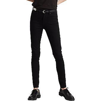 Levi's 721 High Rise Skinny Denim Jeans Black 05