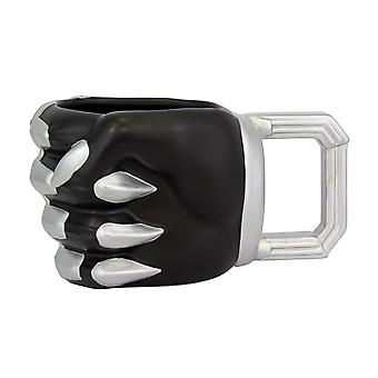 Marvel Black Panther 3D Tasse Faust schwarz/silber, bedruckt, 100 % Keramik, Fassungsverm÷gen ca. 330 ml.