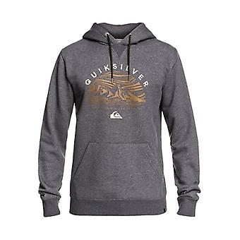 Quiksilver Herren großes Logo Schnee Pullover Hoodie - black Heather