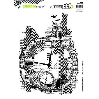"""ستوديو Carabelle """"تاريخ وقت"""" التشبث الطوابع، الأبيض/شفافة، X 2-كبير"""