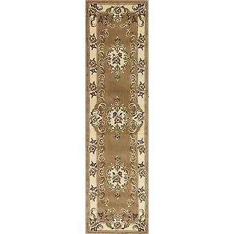 2' x 7' Runner Polypropylene Beigeor Ivory Area Rug