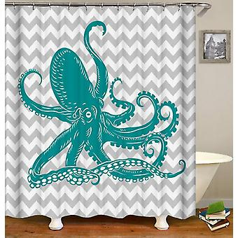 Turquoise Octopus Shower Curtain