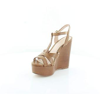 Aldo Womens Nydaycia-28 Leather Peep Toe Casual Platform Sandals
