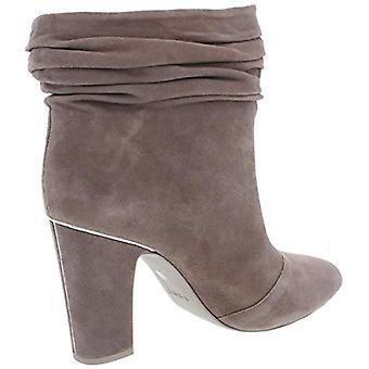 DKNY Womens Sabel Suede Ankle Booties Taupe 6 Medium (B,M)