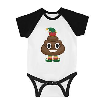 Poop Elf Cute BKWT Baby Baseball Bodysuit X-mas Present