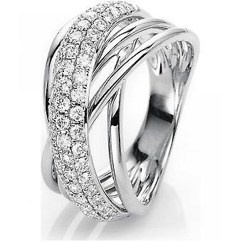 Diamantring Ring - 18K 750 Weissgold - 0.87 ct.
