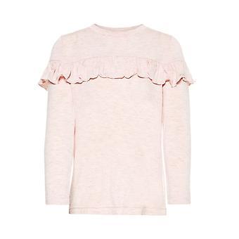 Namnge det rosa flickor tshirt Lushine