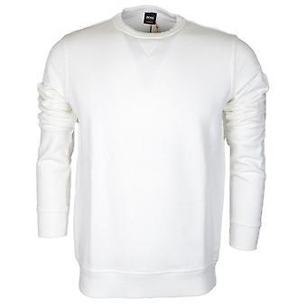 Hugo Boss Walkup Slim Fit weiß Sweatshirt
