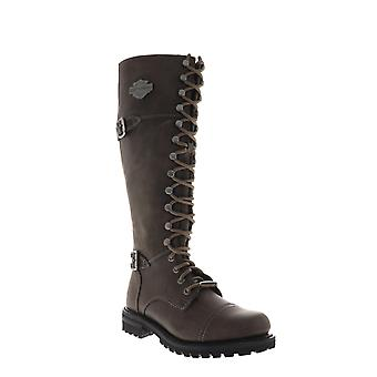 Harley-Davidson Beechwood  Womens Brown Leather Zipper Motorcycle Boots