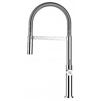Kök Single-spak Sink mixer med rostfrittstål våren och 2 jets dusch-478