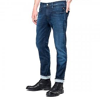 Replay Anbass Hyperflex Clouds Super Stretch Blue Denim Jeans M914 661 E05 007
